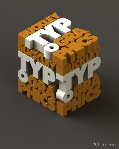 30 tác phẩm typography thiết kế sáng tạo mỗi ngày