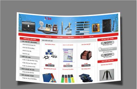 Thiết kế web văn phòng phẩm