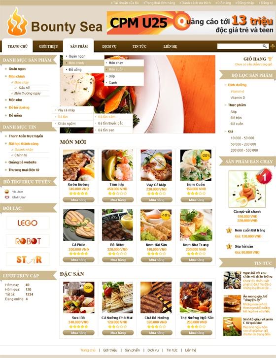mau web suc khoe lam dep SKLD04 Website Nhà hàng   Khách sạn