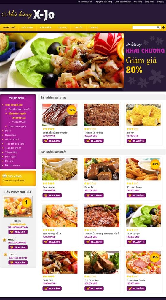 mau web suc khoe lam dep SKLD07 Website Nhà hàng   Khách sạn