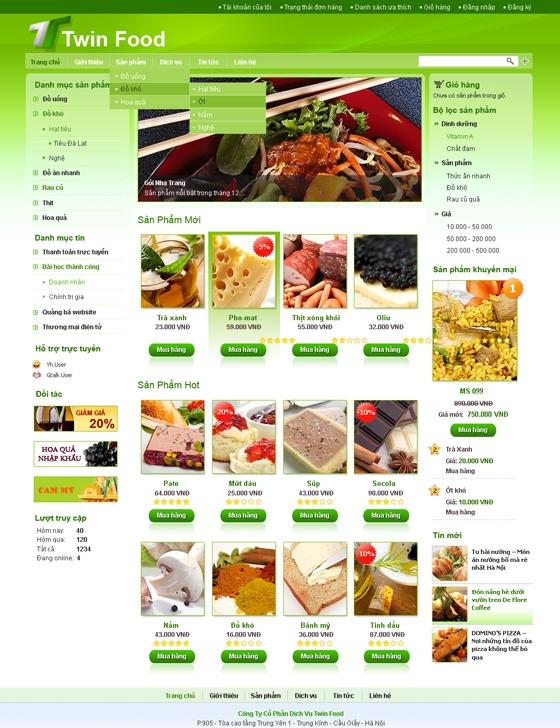 mau web suc khoe lam dep SKLD08 Website Nhà hàng   Khách sạn