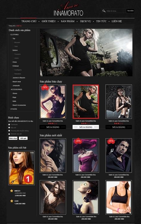 mau web thoi trang my pham TTMP04 Thời trang   Mỹ phẩm   Làm đẹp