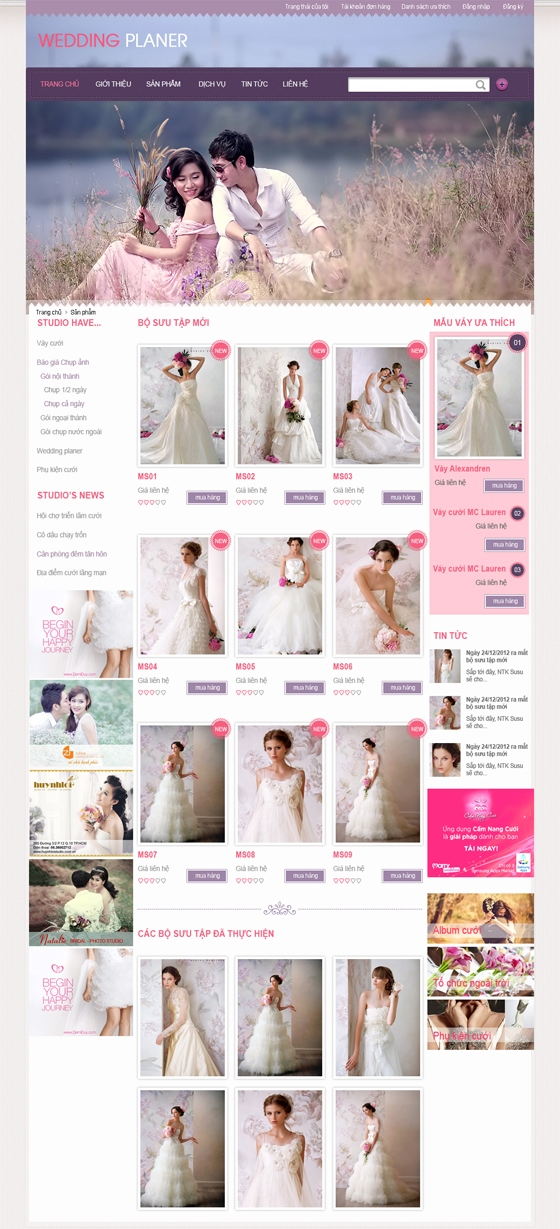 mau web thoi trang my pham TTMP07 Thời trang   Mỹ phẩm   Làm đẹp