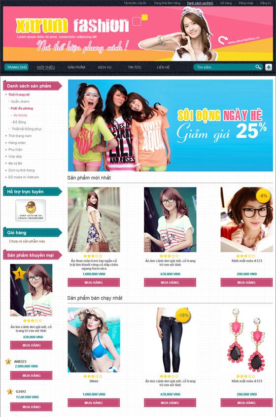 mau web thoi trang my pham TTMP10 Thời trang   Mỹ phẩm   Làm đẹp