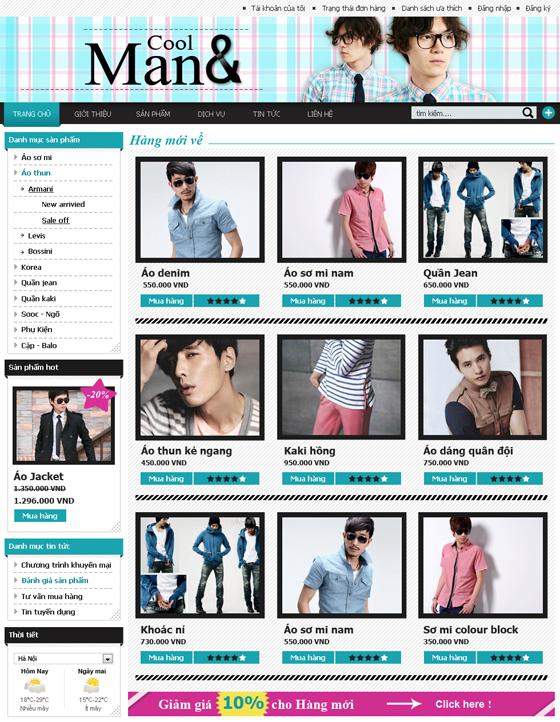 mau web thoi trang my pham TTMP11 Thời trang   Mỹ phẩm   Làm đẹp