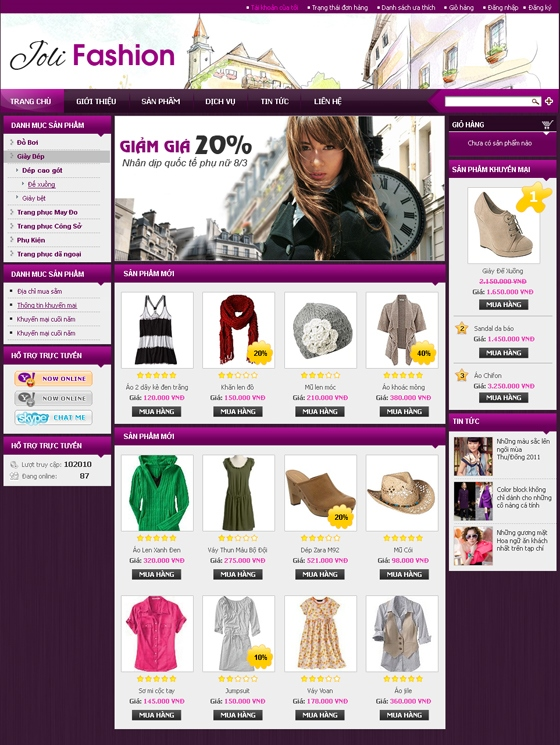 mau web thoi trang my pham TTMP15 Thời trang   Mỹ phẩm   Làm đẹp