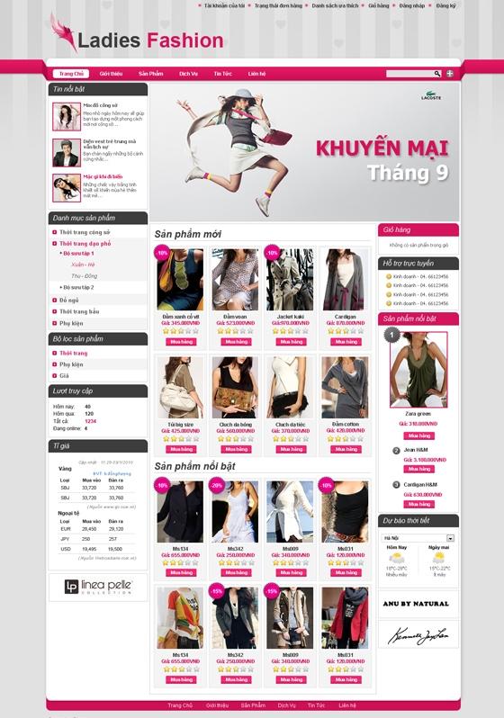 mau web thoi trang my pham TTMP17 Thời trang   Mỹ phẩm   Làm đẹp