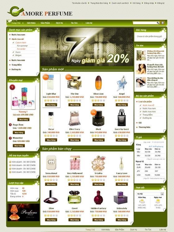 mau web thoi trang my pham TTMP18 Thời trang   Mỹ phẩm   Làm đẹp
