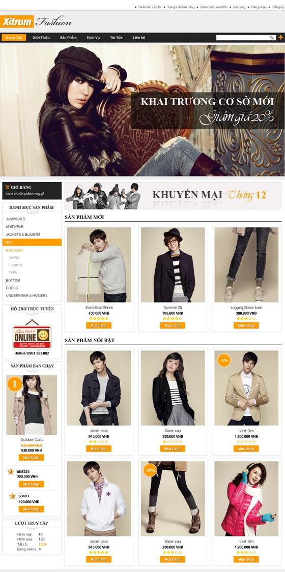 mau web thoi trang my pham TTMP21 Thời trang   Mỹ phẩm   Làm đẹp