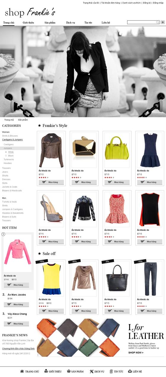 mau web thoi trang my pham TTMP27 Thời trang   Mỹ phẩm   Làm đẹp