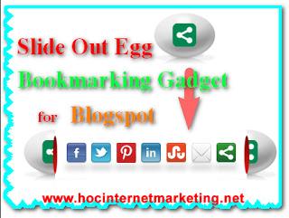 Cách tạo nút Share mạng xã hội trượt hình quả trứng cho blogspot