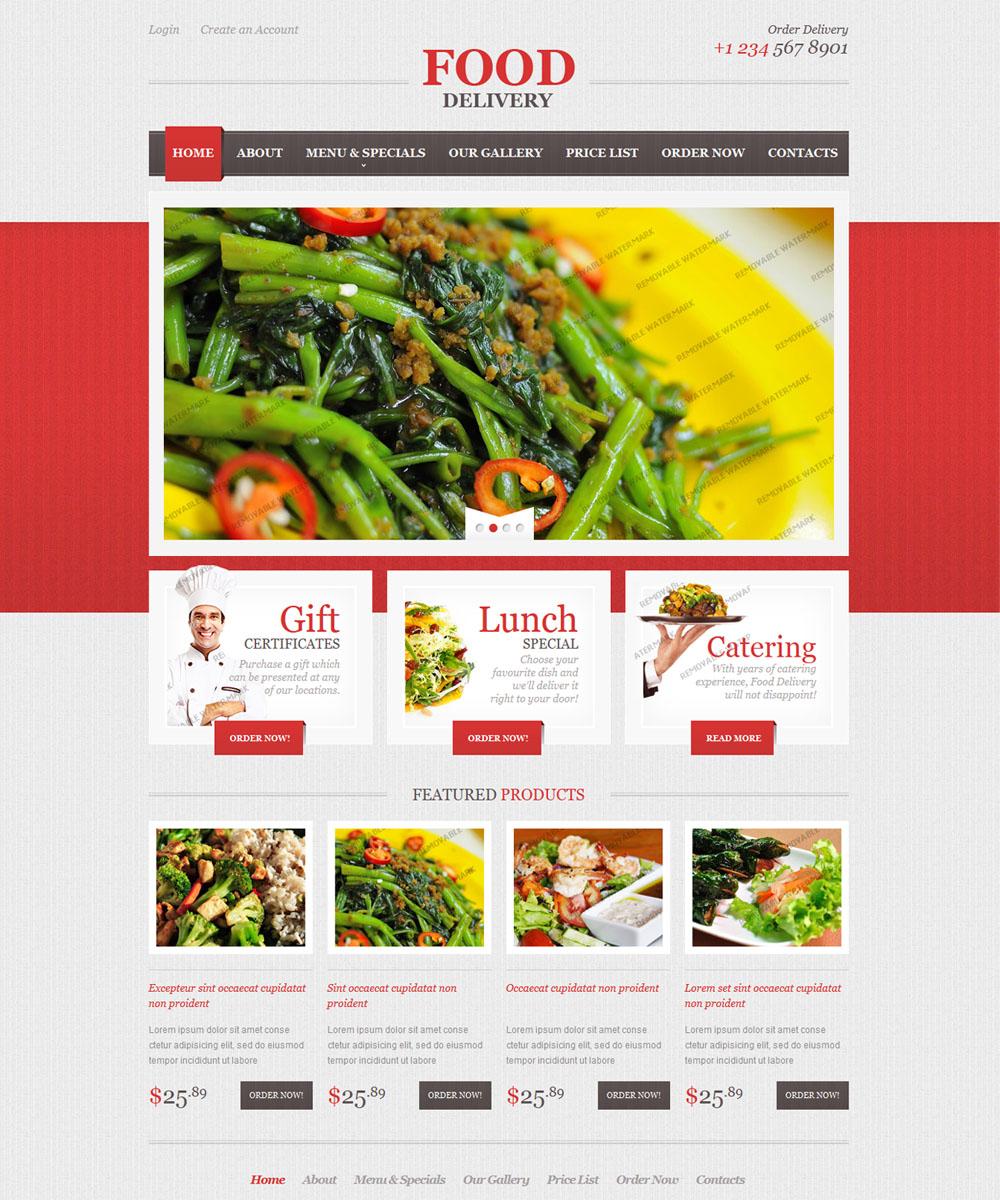 thiet ke web ban am thuc nha hang 002 Website Nhà hàng   Khách sạn