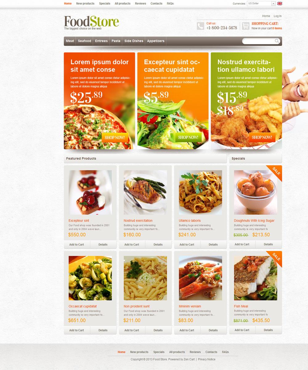 thiet ke web ban am thuc nha hang 004 Website Nhà hàng   Khách sạn