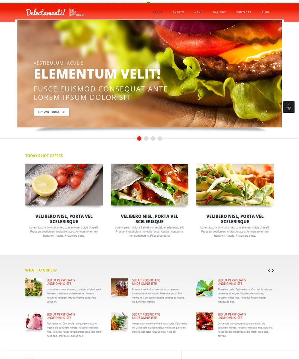 thiet ke web ban am thuc nha hang 005 Website Nhà hàng   Khách sạn