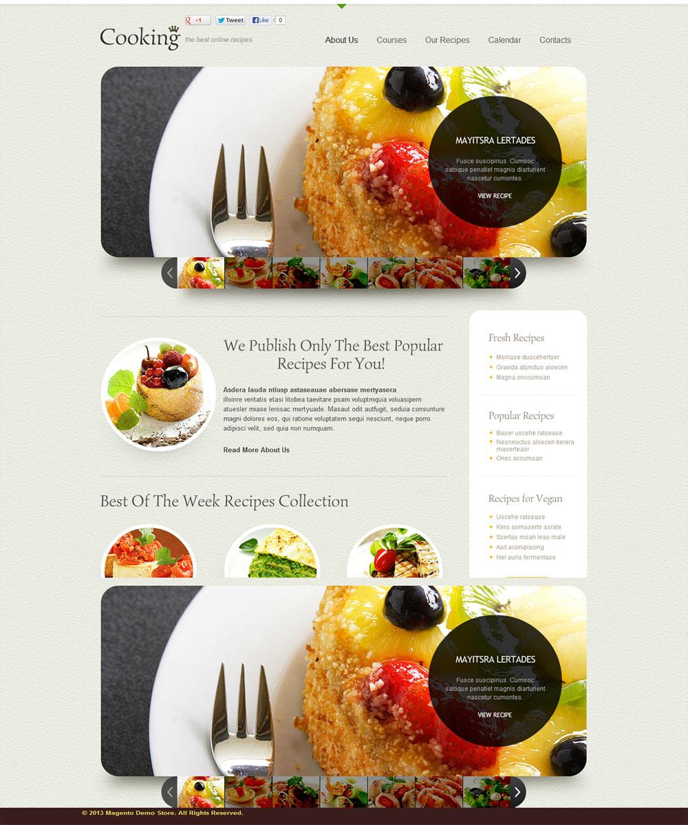 thiet ke web ban am thuc nha hang 006 Website Nhà hàng   Khách sạn