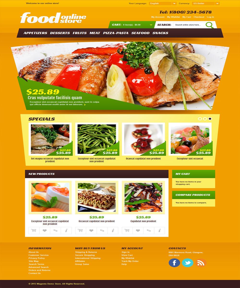 thiet ke web ban am thuc nha hang 007 Website Nhà hàng   Khách sạn