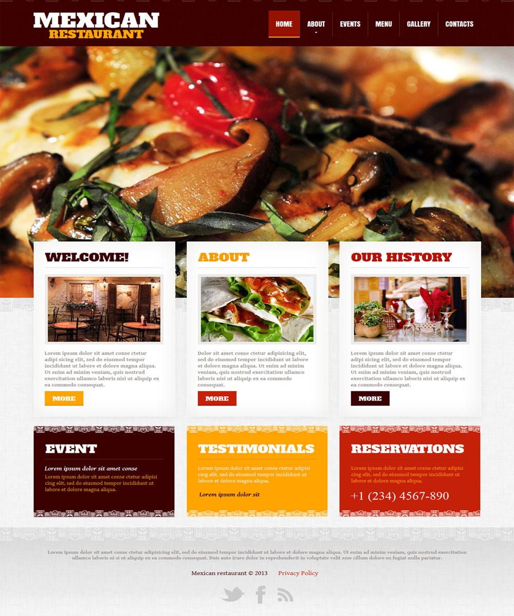 thiet ke web ban am thuc nha hang 008 Website Nhà hàng   Khách sạn