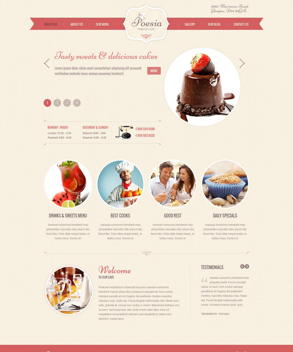 thiet ke web ban am thuc nha hang 009 Website Nhà hàng   Khách sạn