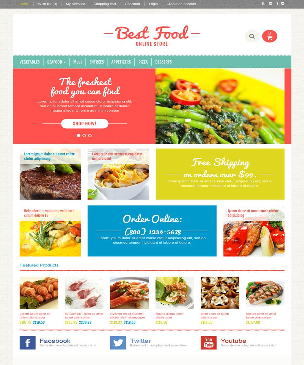 thiet ke web ban am thuc nha hang 10 Website Nhà hàng   Khách sạn