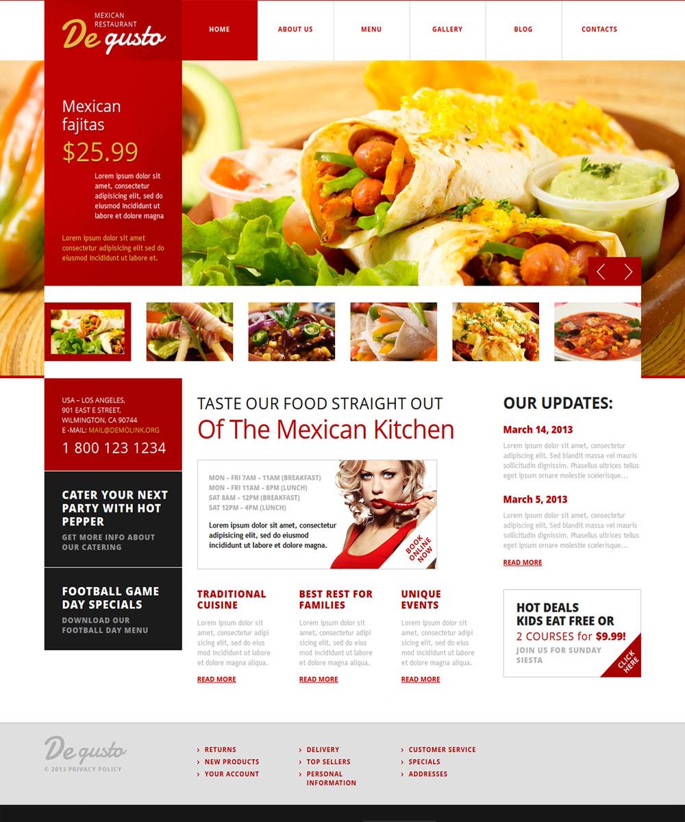 thiet ke web ban am thuc nha hang 11 Website Nhà hàng   Khách sạn