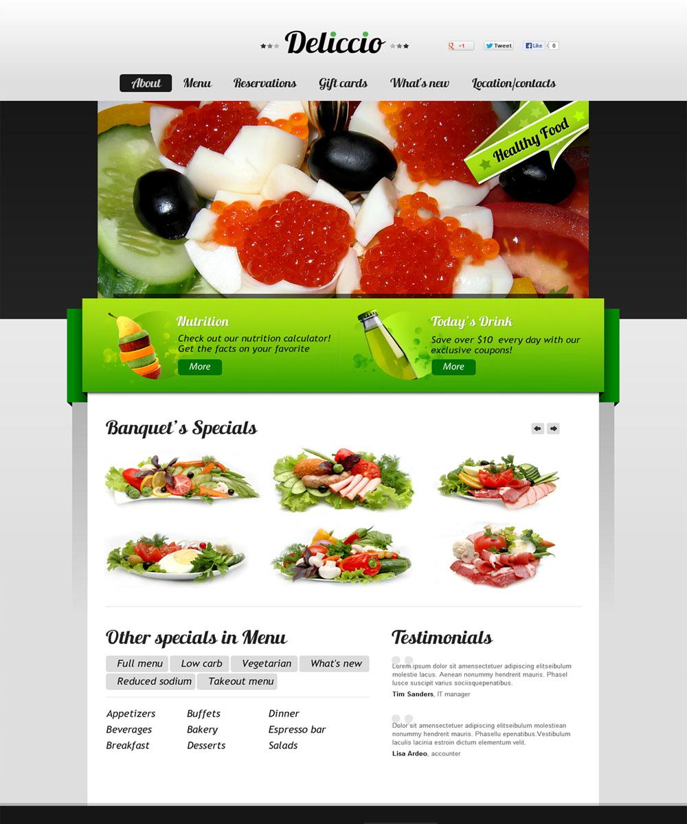 thiet ke web ban am thuc nha hang 12 Website Nhà hàng   Khách sạn