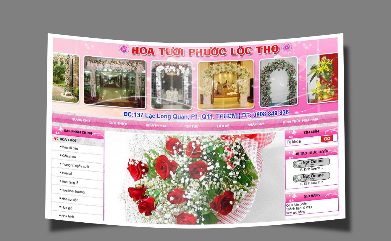 Thiết kế web Hoa – Quà tặng