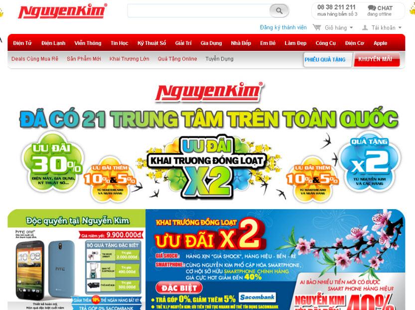 Thiết kế web điện tử điện lạnh